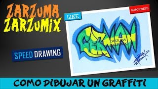 ✏SPEED DRAWING HOW TO DRAW A GRAFFITI  WITH YOUR NAME GERMAN FOR BEGINNERS ✏