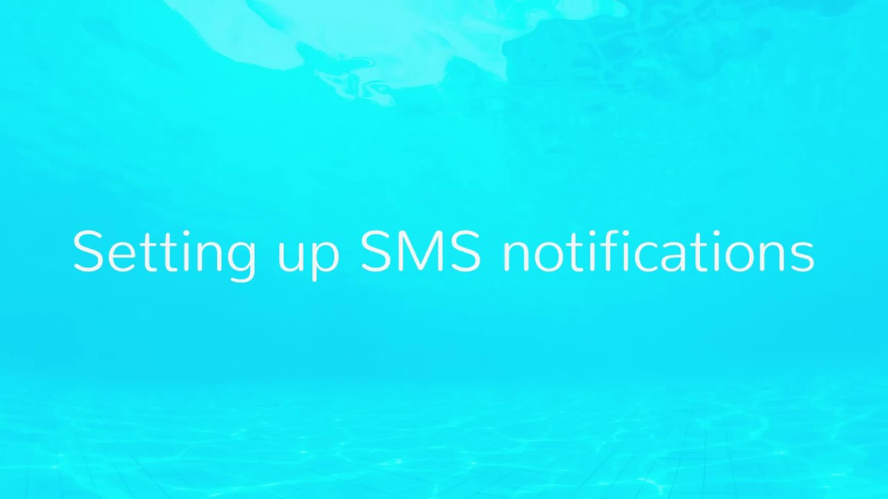 Setting up SMS notifications