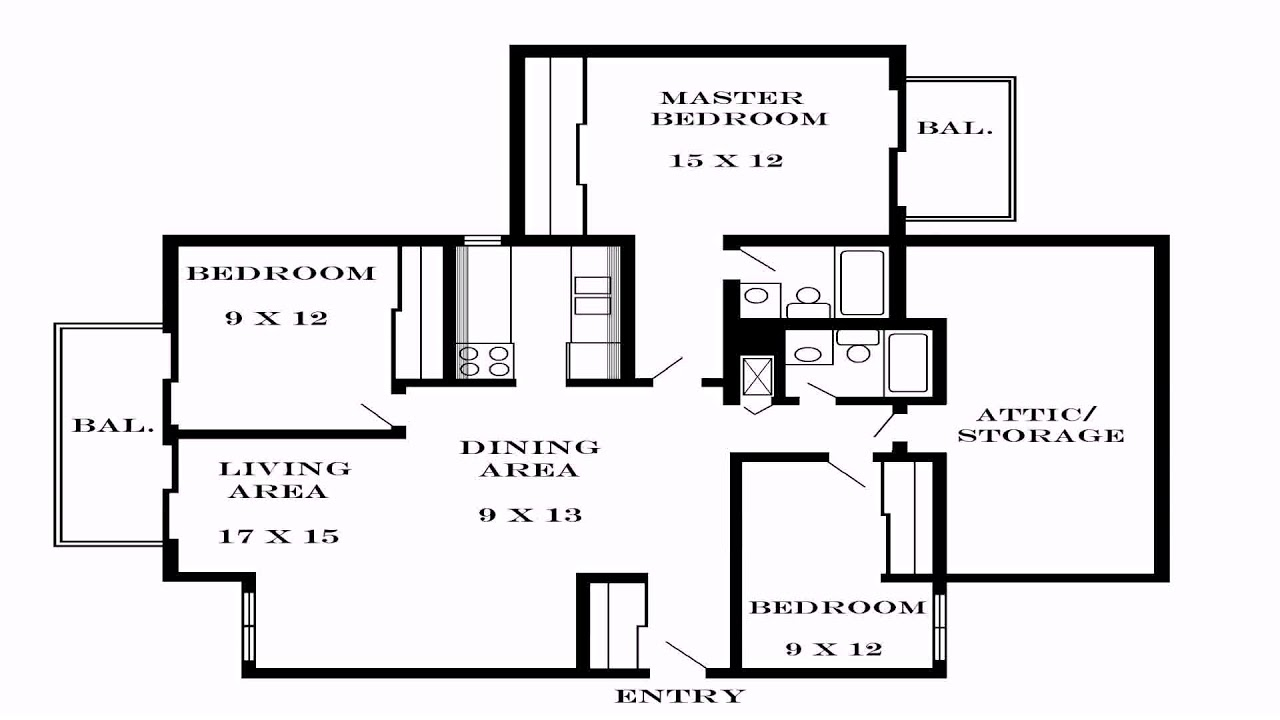 3 bedroom house plans pdf youtube for 3 bedroom house floor plans with models pdf