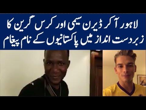 Darren Sammy & Chris Green in Lahore – Video message PSL 2018