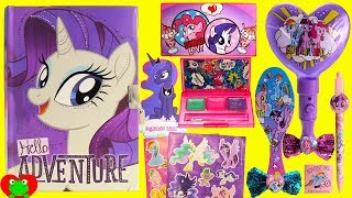 My Little Pony Opening Diary Rarity Lip Gloss Makeup and Surprises