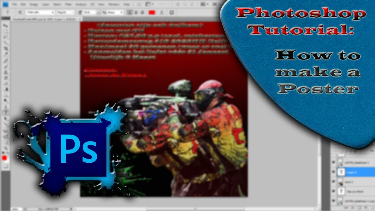 How to make a Poster in Photoshop ||| Easy to make & good looking ...