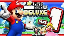 New Super Mario Bros U Deluxe Walkthrough Nintendo Switch Youtube