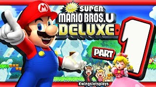 New Super Mario Bros. U Deluxe World 1 Acorn Plains! Hey your not PEACH! (Switch)