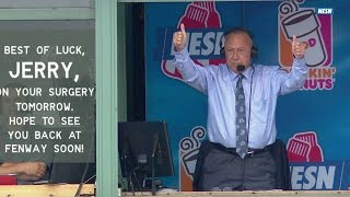 LAA@BOS: Jerry Remy gets standing ovation at Fenway