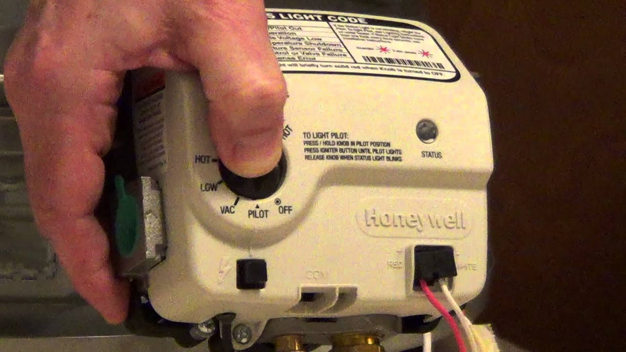How To Light A Water Heater   Honeywell Electronic Gas Control   YouTube