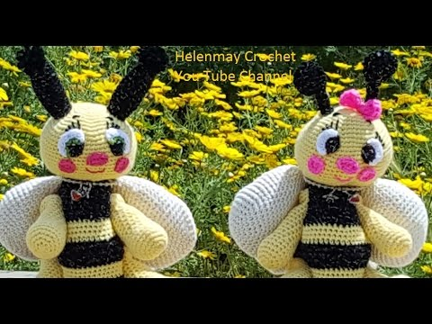 Tutorial Amigurumi Annarellagioielli : Helenmay crochet amigurumi bee part of diy video tutorial