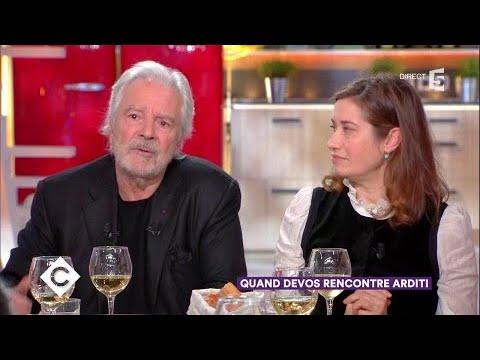 Pierre Arditi et Emmanuelle Devos au dîner - C à Vous - 22/01/2018