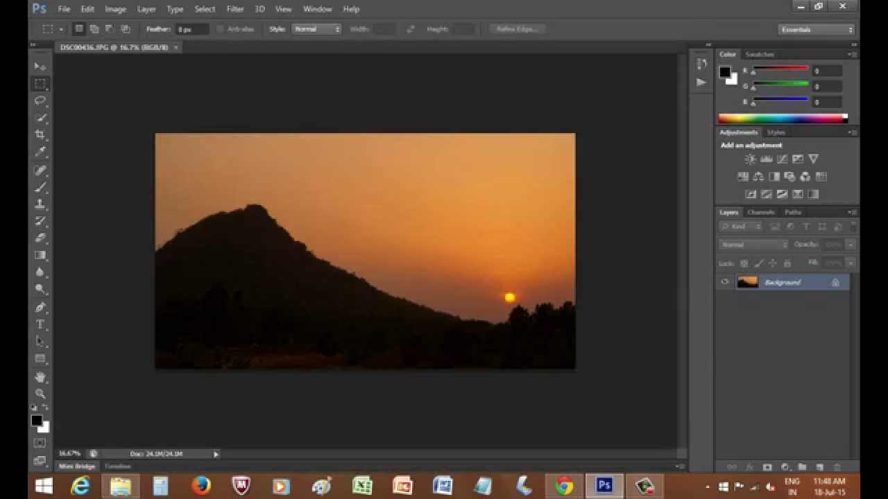 How to make a frame from a photograph on photoshop - YouTube
