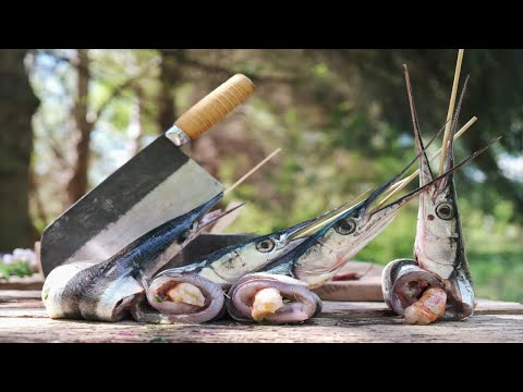 How To Grill GARFISH! Catch And Cook, Fresh From The Sea!