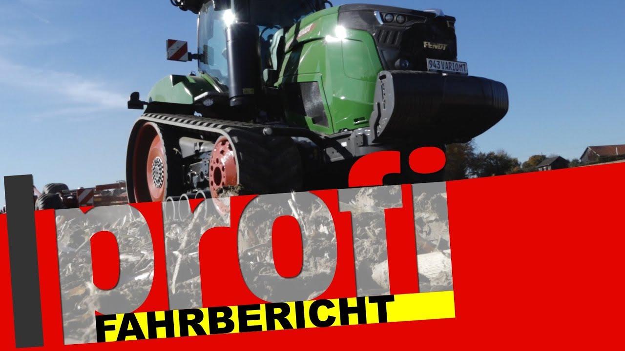 Fendt 943 Vario MT: Das erste Dieselross auf Raupen | profi #Fahrbericht - YouTube