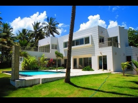 Fantastic Modern Beachfront Villa / Real Estate Dominican Republic