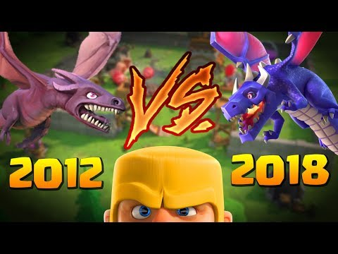 Playing Clash of Clans in 2012 Vs 2018 - What's Changed? | Old CoC Vs New CoC | History of CoC