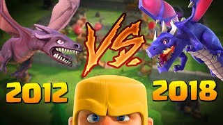 Playing Clash of Clans in 2012 Vs 2018 - What