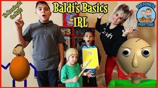 BALDI'S BASICS IN REAL LIFE | DEION'S PLAYTIME
