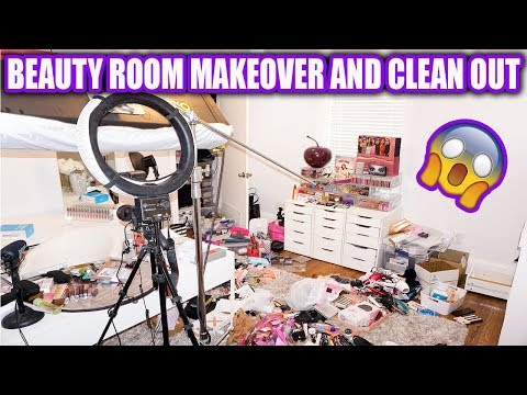 Beauty Room Makeover! Before & After with Declutters & Clean Out!