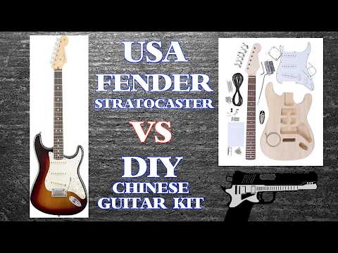 Chinese DIY Guitar Kit VS USA Fender Stratocaster
