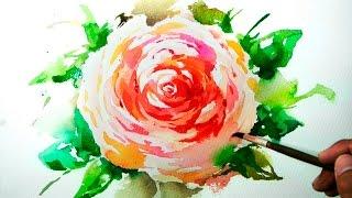 Watercolor Painting - Ranunculus Flower - Jay Art