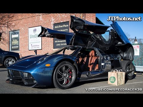 Going grocery shopping in a Pagani Huayra