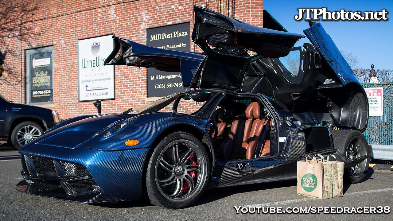 Going grocery shopping in a Pagani Huayra - YouTube