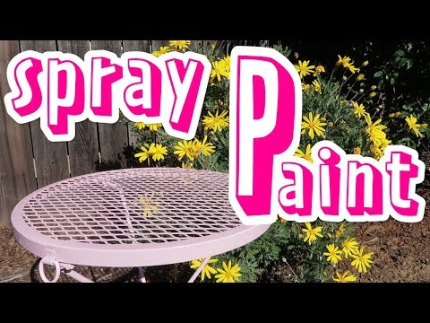 Spray Painting Metal Folding Table