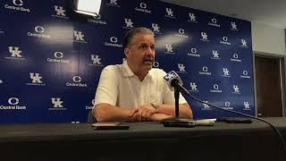 Kentucky Basketball Head Coach John Calipari - Summer 2019 Press Conference