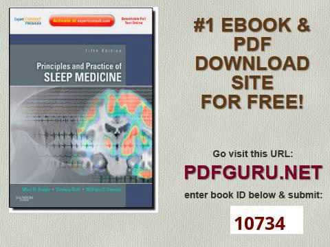 Principles and Practice of Sleep Medicine Expert Consult Premium Edition   Enhanced Online Features