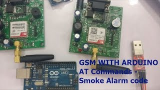GSM WITH ARDUINO - AT Commands Step by Step - Smoke Alarmcode Video