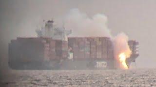 Vor kanadischer Küste: Flammen auf Containerschiff