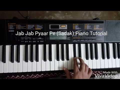 Jab Jab Pyaar Pe (Sadak) Piano Tutorial