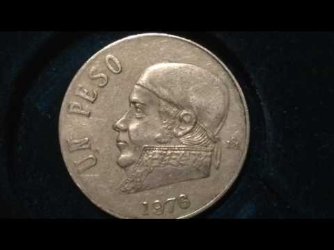 One Peso Mexico Coin dated 1976