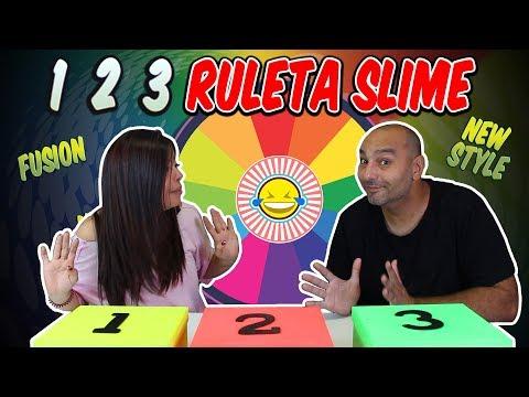 UN DOS TRES RULETA de SLIME ! 1 2 3 SLIME ROULETTE challenge! New Style Fusion
