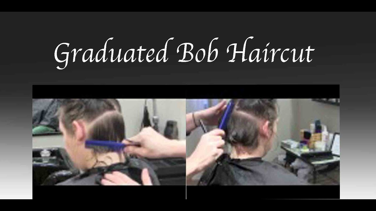 Graduated Bob Haircut Hair Tutorial Razor Cut Fine Texture Youtube
