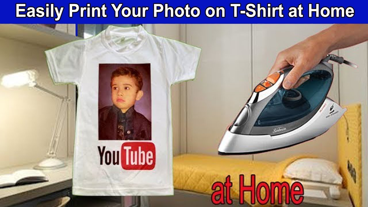 how to iron a picture on your shirt