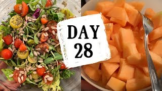 DAY 28 Mostly Raw Vegan Food Challenge / PREGNANT