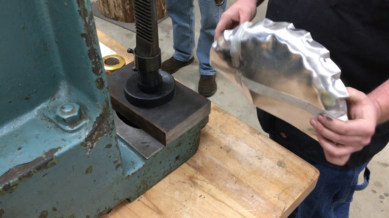 Tuck Shrinking Using An Arbor Press Youtube