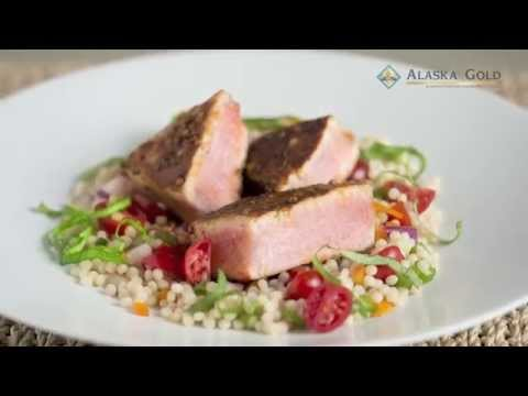 Seared Moroccan Spiced Albacore Tuna Recipe - YouTube