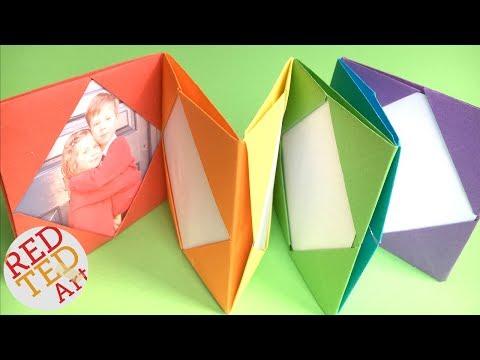 Easy RAINBOW Origami Photo Album DIY - Mini Photo Album DIY