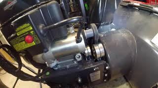 Briggs and Stratton 1024MD Snowblower belt adjustment