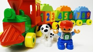 Video for kids - Lego Number Train Duplo - eğitici video okul öncesi - lego sayı treni duplo