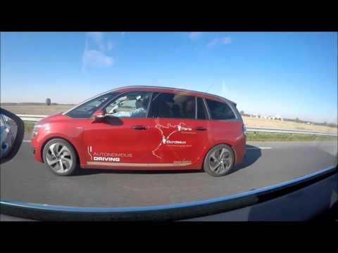 Trajet Paris-Bordeaux en voiture autonome PSA Peugeot Citroën