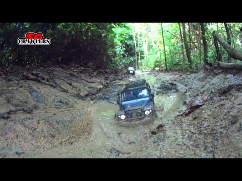 Axial SCX10 RC4WD Trail finder 2 RCModelex Defender 110 Land Cruiser RC offroad adventures Part 2