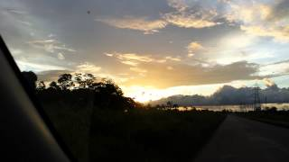 Amazing sunset in Suriname