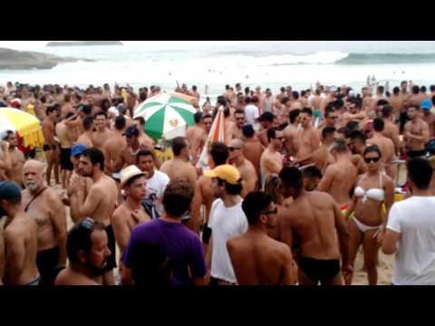 Carnaval 2016, Bar do Deca na Praia Mole. Florianópolis. Gay beach