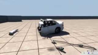 Max speed car frontal crashes in slow motion - BeamNG.drive