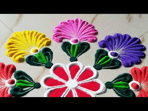 Very Beautiful, Easy Kolam Design for Pongal | Sankranthi Muggu | Sankranti Rangoli -