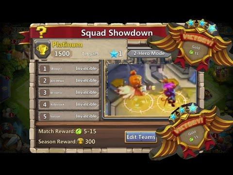 Squad Showdown Day 2 Still Perfect 2 Hero Set Up Castle Clash