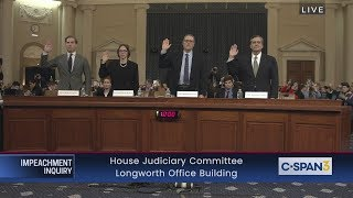 House Impeachment Inquiry Hearing - Feldman, Karlan, Gerhardt & Turley Testimony