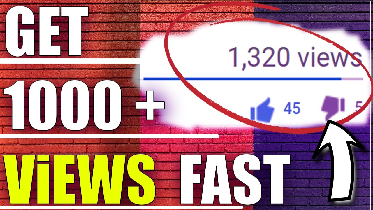 How To Get 1000 Views On Youtube Fast 2017 Best Way To Get More Views On Youtube Youtube