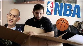 WTF UNBOXING FROM THE NBA??!! Look what they sent me!